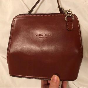 Vera Pelle Italian Leather Crossbody Bag